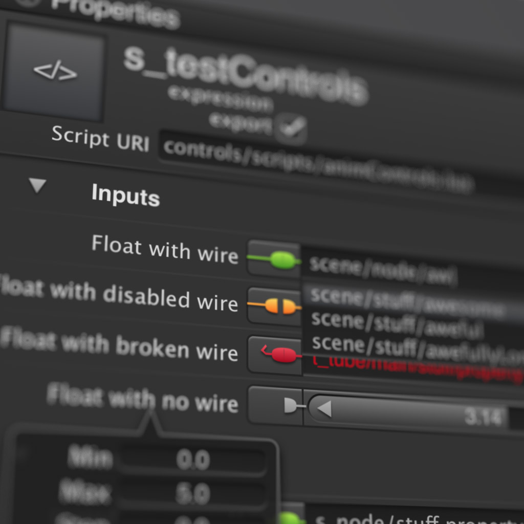 Closeup of SceneComposer UI